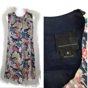 Anna Sui for Anthropologie Floral Shift Dress